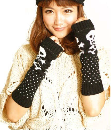 Zarlena Arm Warmers With Skull And Crossbones Pattern