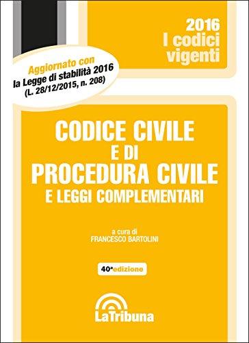 Codice civile e di procedura civile e leggi complementari PDF