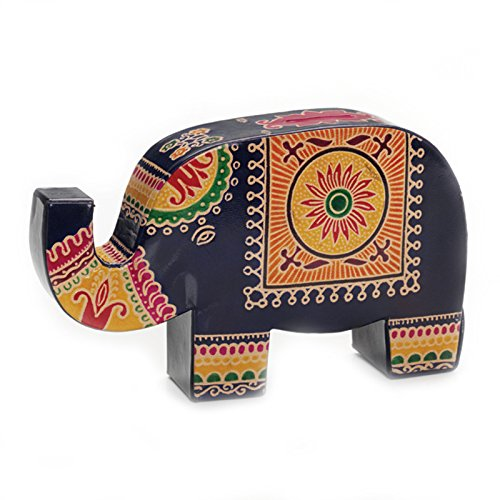 Colorful Leather Lucky Elephant Coin Bank - 1