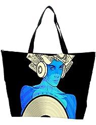 Snoogg Music Maam Designer Waterproof Bag Made Of High Strength Nylon