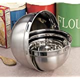 4pc Mixing Bowl Set Stainless Steel 1-5 Quarts