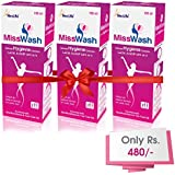 MissWash Expert Intimate Hygiene Wash (Total 300 Ml, 100 Ml Pack Of 3) Enriched With Seabuck Thorn Oil And Tea...