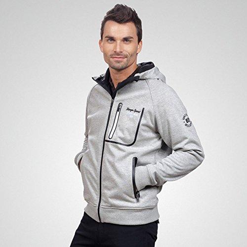 Restposten-Qualitts-Funktions-Sweatshirt-Jacke-Unisex-grau-wasserdicht
