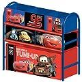 Multi Toy Organizer CARS mit 6 F�chern und Metallgestell Aufbewahrungsboxen Spielzeugregal