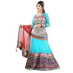 Aagaman Fashions Net Lehenga Choli (TSSF10020_Blue)