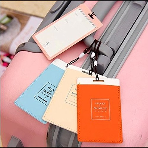 Desk Accessories - Creative Traveling Distinguishable Luggage Tag Pink