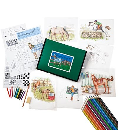 Equestrian Design Drawing Kit with Colored Pencils (Drawing Design compare prices)