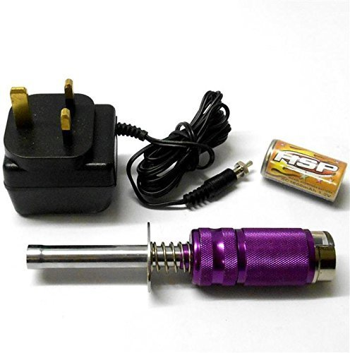 UK Delivery Only 80102 Meter Voltage Indicator RC Nitro Glow Starter Purple HSP + Charger UK Delivery Only by HSP [並行輸入品]