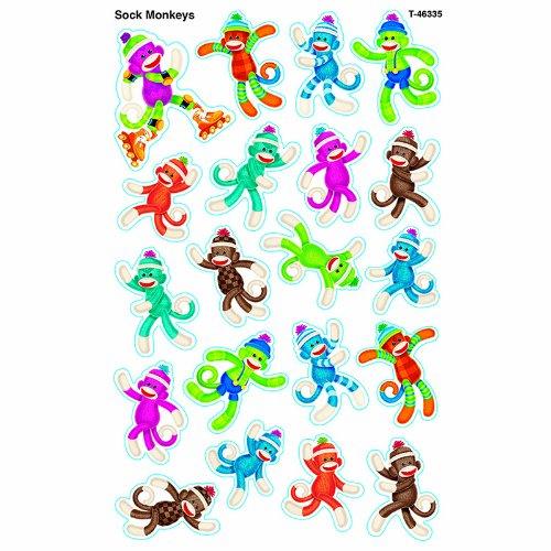 Sock Monkeys superShapes Stickers - Large