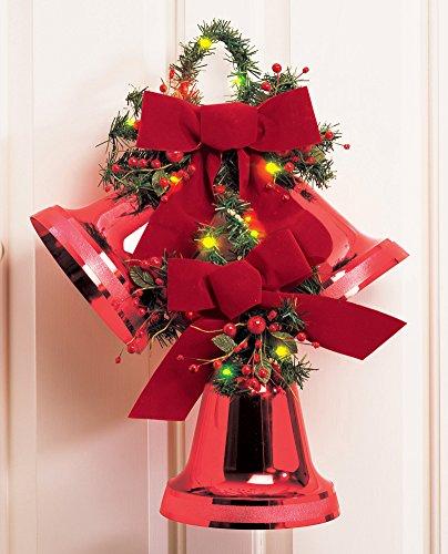 Led Lighted Holiday Musical Jingle Bells Wall Art