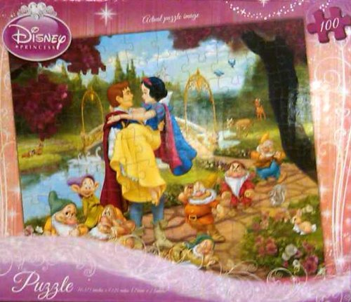 Disney Princess Style 2 Puzzle 100 Pcs Age 6+ (Snow White and the 7 Dwarfs) - 1