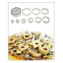 Silikomart Nylon Cutter 06 Regular Hexagon For Cookie Pastry Cutter 9 Pcs Set