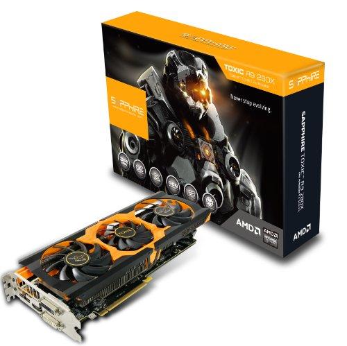 Sapphire-Radeon-TOXIC-R9-280X-3GB-GDDR5-DL-DVI-ISL-DVI-DHDMIDual-Mini-DP-UEFI-PCI-Express-Graphics-Card-11221-01-40G