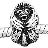 Charm Buddy Antique Style Silver Plated Baby Orangutan Ape Monkey Charm Bead Fits Pandora Troll Silver Charm Bracelets Chains