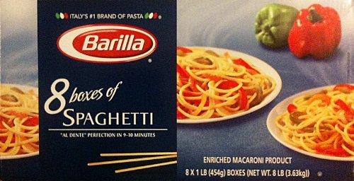 Barilla Pasta Spaghetti Multi Pack 8 One Pound Boxes Value Pack