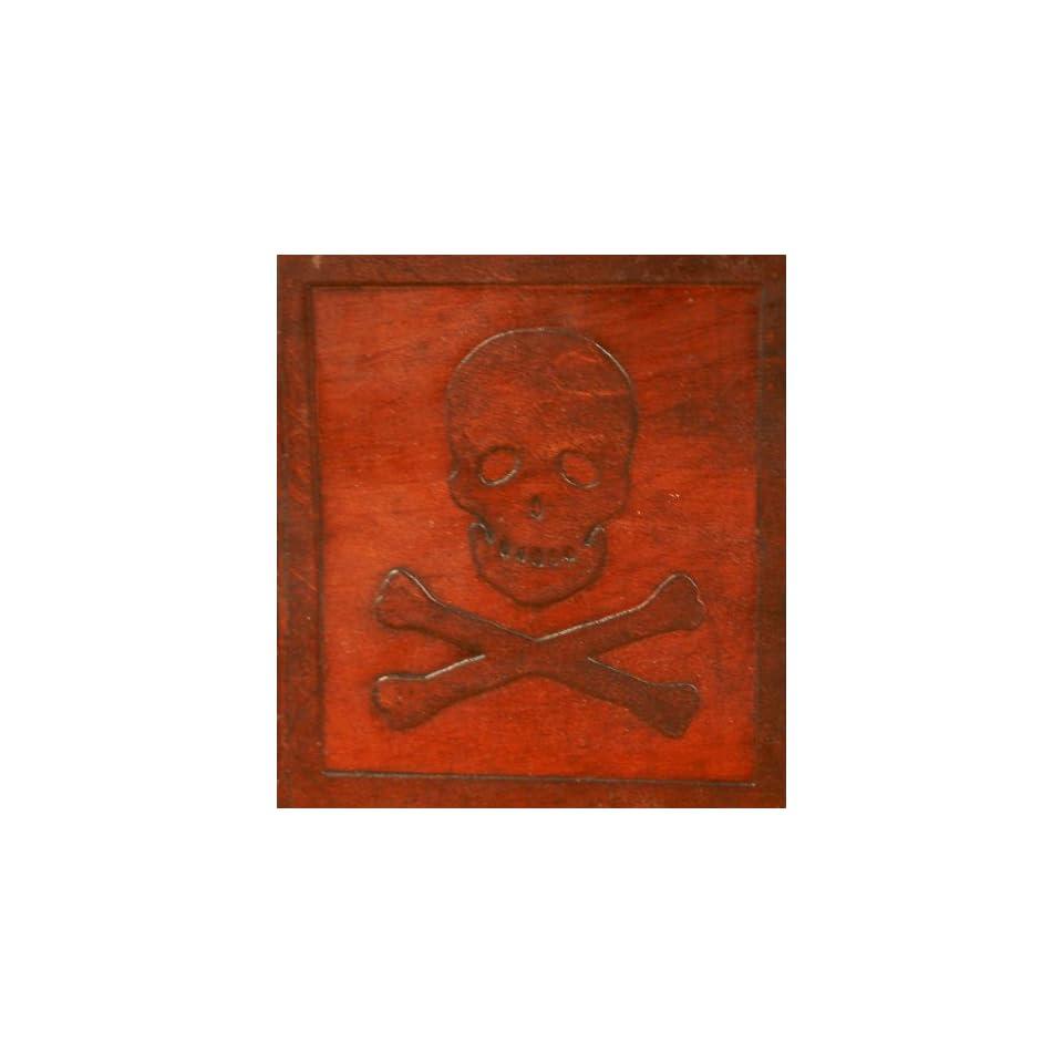 Jolly Roger Pirate Skull Embossed Handmade Leather Journal 6x9 Travel Diary