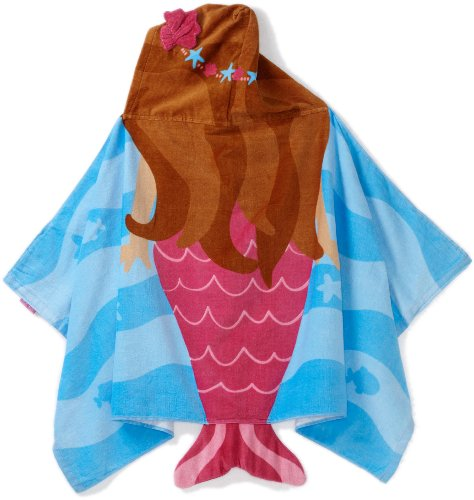 Stephen Joseph Little Girls' Hooded Towel, Mermaid, One Size