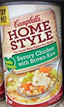 Campbell39s Homestyle Healthy Request Savory Chicken with Brown Rice Soup 186oz Pack of 8