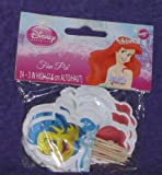 Princess Ariel Cake or Cupcake Topper (24 Pack)