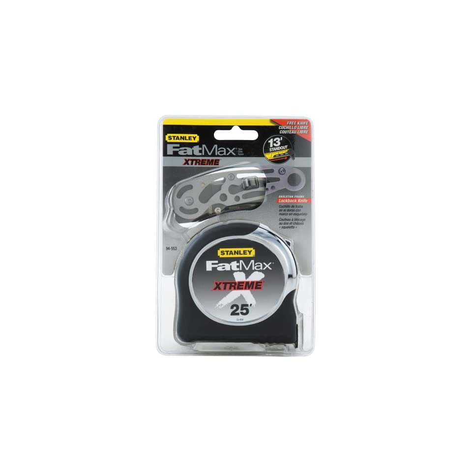 Stanley 94 553 25 Foot FatMax Xtreme Tape Rule with Free