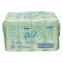 Kimberly-Clark Scott 04007 Coreless Standard Roll Bathroom Tissue, 4-25/64&#034; Length x 4&#034; Width, White (36 Rolls of 1000)