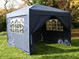 Airwave 3x3mtr Blue Pop Up Gazebo, FULLY WATERPROOF, INCLUDES WindBar and Four Sides and Bag.
