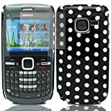 Polka Dots - Hard Mobile Phone Case Cover For Nokia C3-00 + Clear Screen Film Protector Proctector / Black