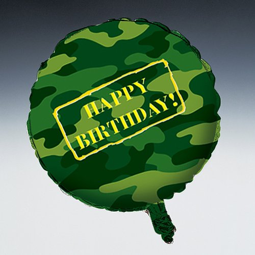 Creative Converting - Camo Gear Foil Balloon, 18""