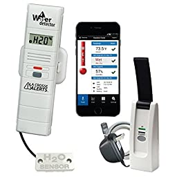 La Crosse Alerts Mobile 926-25104-WGB Wireless Monitor System Set with Water Leak Probe by La Crosse Technology