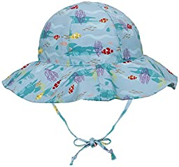 SimpliKids UPF 50+ UV Ray Sun Protection Wide Brim Baby Sun Hat,Fish,12-24 Months