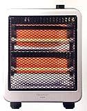 電気ストーブ FL-9405 800w 400w 石英管 転倒時OFFスイッチ シンプル コンパクト 軽量