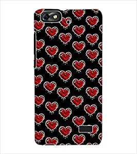 ColourCraft Love Hearts Design Back Case Cover for HUAWEI HONOR 4C