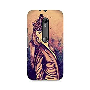 MOBICTURE Girl Abstract Premium Designer Mobile Back Case Cover For Moto X Play
