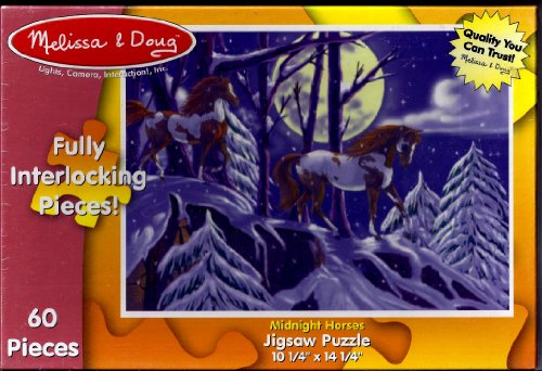 Midnight Horses 60 Pieces Jigsaw Puzzle By Melissa & Doug