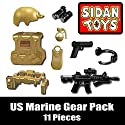 US Marine Gear Pack (11 Pieces) - Custom Minifigure Pieces