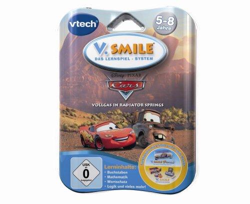 Imagen principal de VTech 80-084404 - Movimiento V. Smile de aprendizaje del juego Cars [Importado de Alemania; versión en alemán]