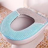 Spritech(TM) Soft Bathroom Warmer Washable Velveteen Cartoon Pattern Toilet Seat Cover Pads Color Random