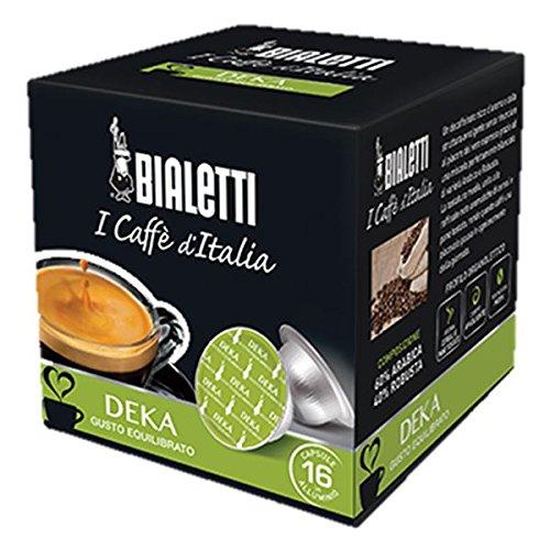 64 Capsule Alluminio I Caffe' D'Italia Bialetti Mokespresso Deka Decaffeinato