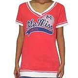 Womens NCAA Mississippi Rebels V-Neck T-Shirt / Tee
