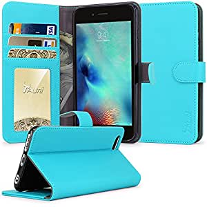 iPhone 6S Case, iPhone 6 Case, Tauri [Stand Feature] Wallet Leather Case with Stand, ID & Credit Card Pockets Flip Cover For (4.7 inch) Apple iPhone 6S (2015) & iPhone 6 (2014) - Blue