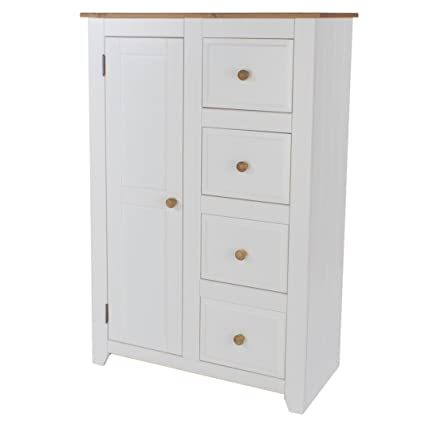 1 door, 4 drawer tallboy