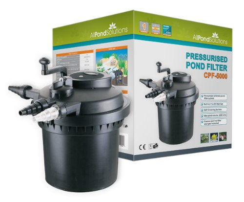 Pressurized Pond Filter 6000 with 11w UV Steriliser Light - All Pond Solutions CPF-5000