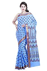 Brindavan Poly Cotton Small Bhutta Printed Party Wear Saree with Blouse(19891022)