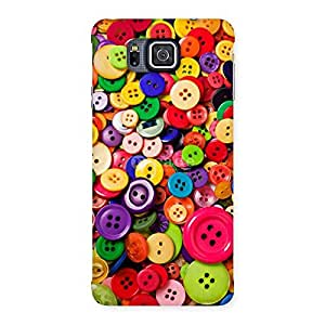 Delighted Button Lot Print Back Case Cover for Galaxy Alpha