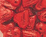 Red Foiled Milk Chocolate Hearts 1LB Bag