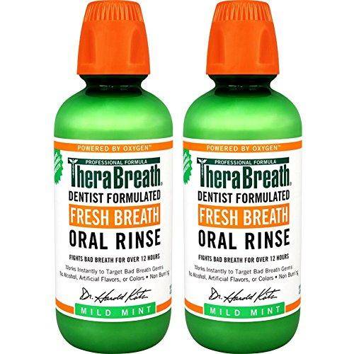 테라브레스 가글 470ml * 2팩 아이시 민트, 마일드 민트 - TheraBreath Dentist Recommended Fresh Breath Oral Rinse