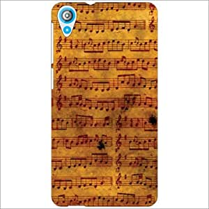 HTC Desire 820 Back Cover - Musical Notes Designer Cases