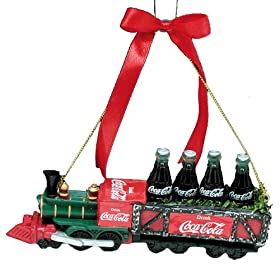 Kurt Adler Coca-Cola Train Ornament