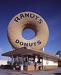 A Delight in Inglewood, California - Randy's Donuts - Charming Photographic Print by Carol M. Highsmith