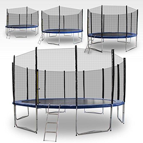 Gartentrampoline Trampoline Outdoor-Trampoline Fitness-Trampoline 490cm , inkl. Sicherheitsnetz,Schuhtasche, Bodenanker. Leiter und Abdeckplane